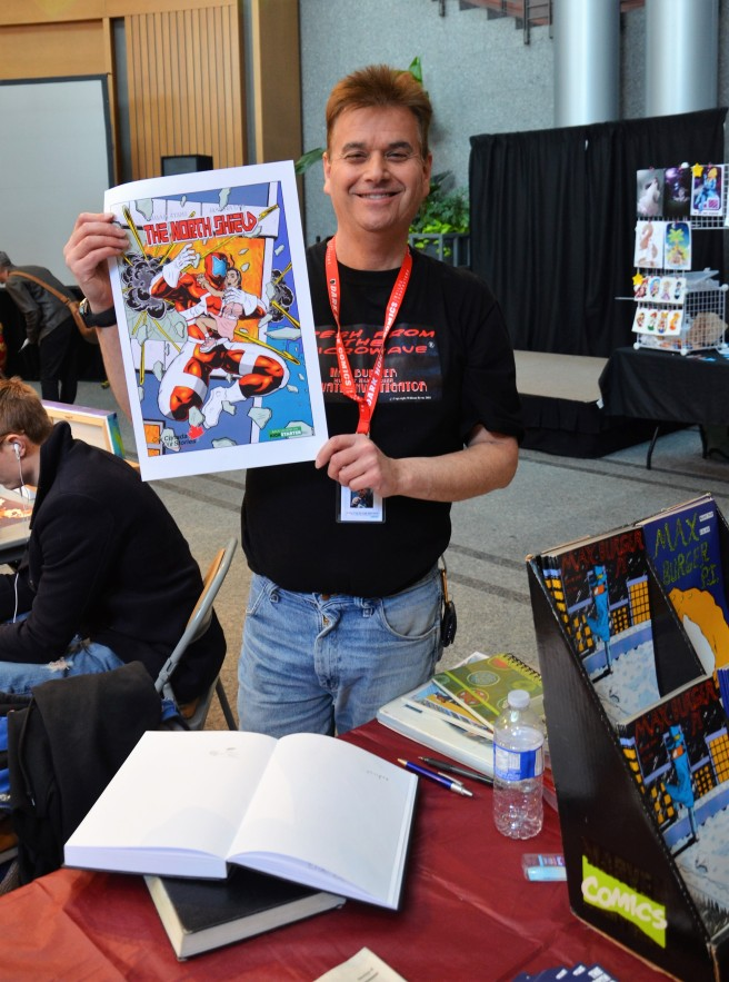 William Byrne with The Canadian Shield comic pic 2